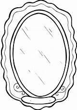 Mirror Coloring Pages Coloringtop sketch template