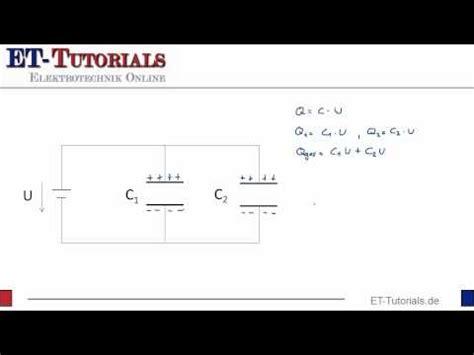 parallelschaltung von kondensatoren  tutorials