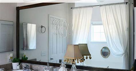 Diy Tutorial--add Wood Trim Around A Giant Mirror