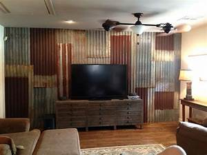 25 best ideas about corrugated metal walls on pinterest With kitchen cabinets lowes with distressed wood and metal wall art