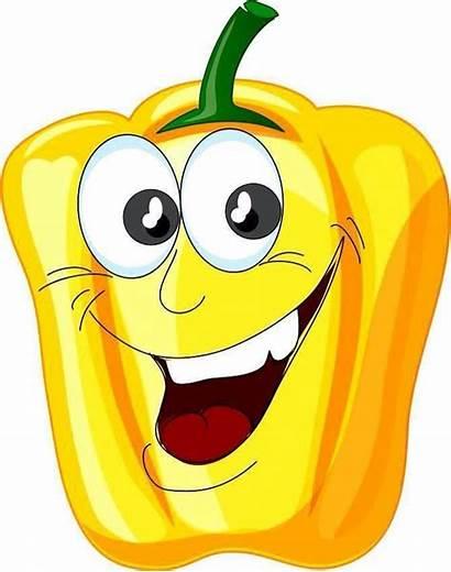 Cartoon Clipart Vegetables Fruit Fruits Clip Veggies