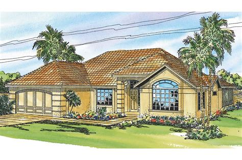 Mediterranean House Plans  Pereza 11075  Associated Designs