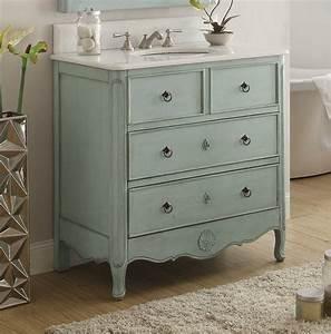 34, Inch, Bathroom, Vanity, Coastal, Vintage, Style, Distressed, Light, Blue, 34, U0026quot, Wx21, U0026quot, Dx35, U0026quot, H, Chf081lb