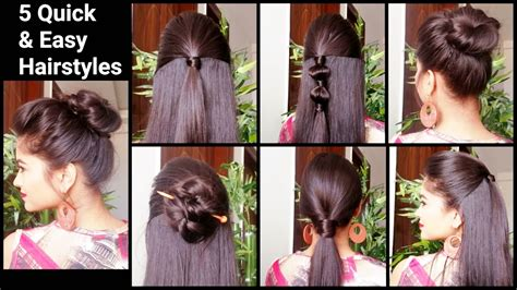 quick easy hairstyles  medium  long hairback