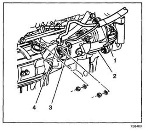 Starter Wire Diagram 2001 Alero by Starter Replacement Procedure 4 Cylinder Front Wheel