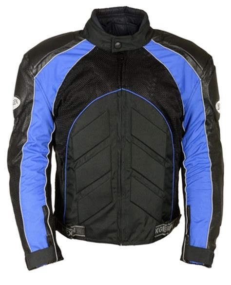 motorcycle jackets for men with armor men 39 s textile leather armored motorcycle jacket blue
