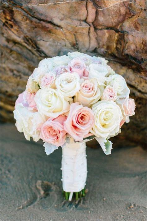 pink  white beach wedding  crystal cove bridal