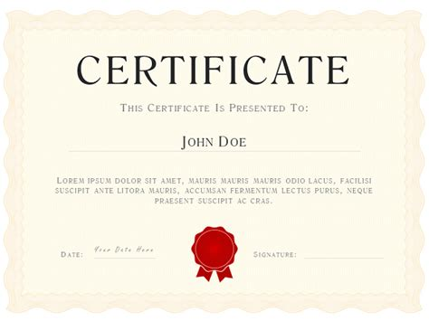 Certificate Template Powerpoint by Ivory Powerpoint Certificate Diploma Template