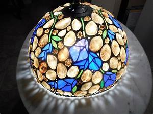 Stained Glass Hanging Light Fixtures Hoosin Lampworks Sea Shell Floral Hanging Lamp Light