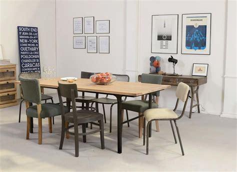 table cuisine style industriel table style industriel en bois et metal