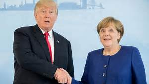 Trump Meets Merkel After Landing in Hamburg for G20 Summit ...