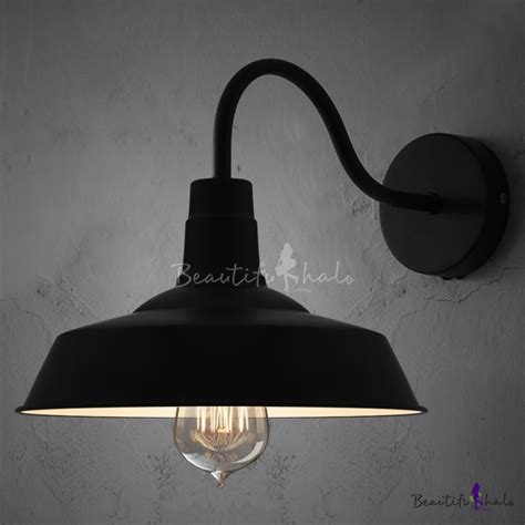 gooseneck barn lights cheap black barn style shade wall light with gooseneck arm