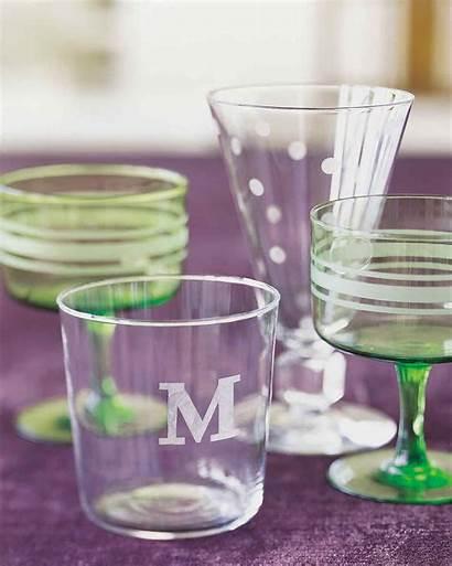 Glass Etched Martha Stewart