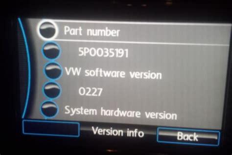Rns310 Software Firmware Update Sw0227 Of Sw0235 Naar Sw0351