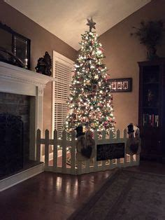 christmas tree fence for dogs creating a faux gift fence around your tree to help keep babys toddlers pets from