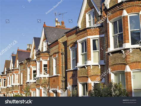 Row Typical English Houses Richmond London Stock Photo
