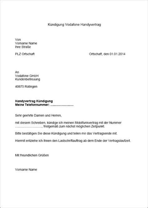 kuendigung mietvertrag vorlage vermieter haeuser