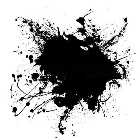 Abstract Black Ink by Abstract Black And White Ink Splodge That Is Editable