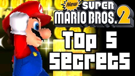 New Super Mario Bros 2 Top 5 Secrets (3ds)