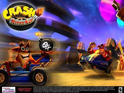 Crash Nitro Kart Bandicoot Background 3d Iso