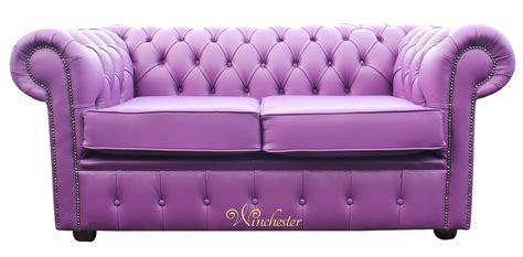 Purple Settee Sofa by Chesterfield 2 Seater Settee Wineberry Purple Leather Sofa