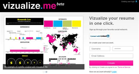 Visualize Me Resume by Vizualize Me Visualize Your Resume In One Click Bluesyemre