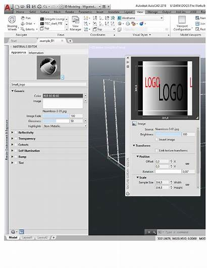 Autocad Autodesk Texture Editor
