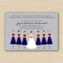 bridesmaid announcement bridesmaids luncheon invitation bridal brunch diy