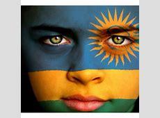 Rwandan Flag Painted on Face #Flag #Face #Paint #Rwanda