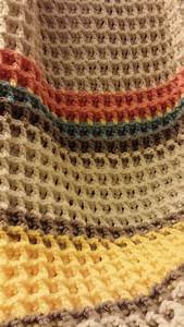 Ergahandmade  Waffle Stitch Baby Blanket  Shawl  Scarf