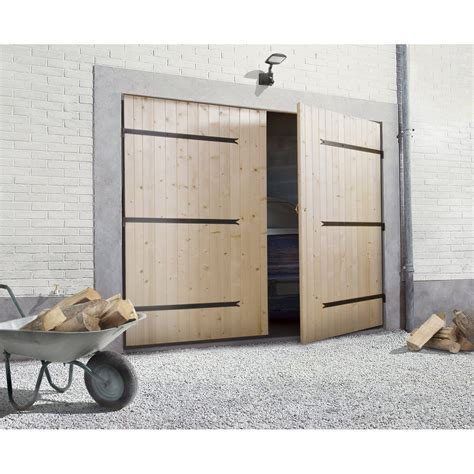 porte de garage 2 vantaux primo h 200 x l 240 cm leroy merlin