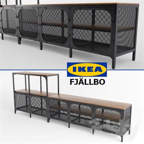 solid wood 3d models sideboard chest of drawer ikea fjallbo