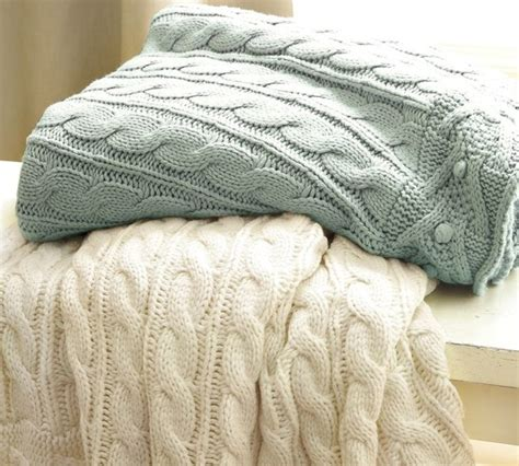Pottery Barn Cable Knit Throw by Cable Knit Throw Traditional Throws By Pottery Barn
