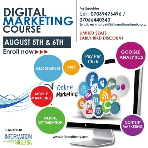 digital marketing information register for our digital marketing course information