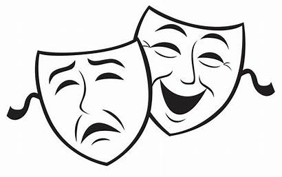Faces Clipart Drama Masks Theatre Silhouette Acting