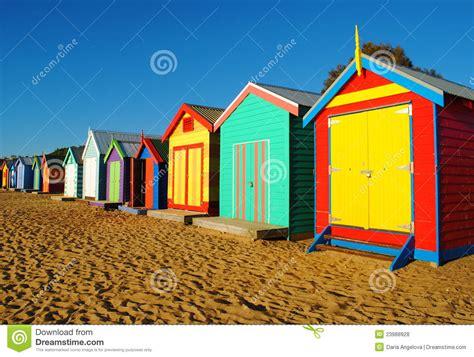 cabines de plage de melbourne photo stock image du