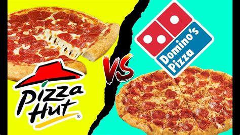 Food Fights! Pizza Hut VS Dominos Pepperoni Pizza Battle ...