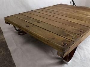 Couchtisch Loft Design : couchtisch loft rollpalette palettenrollwagen ddr fabriklook holztisch kaffeetisch industrial ~ Indierocktalk.com Haus und Dekorationen