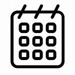Calendar Icon Minimal Outline Icons Praveen Iconset