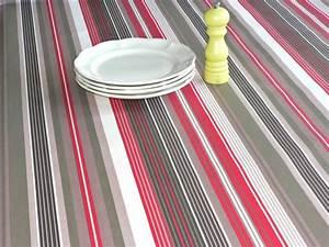Nappe Enduite Au Mètre : toile enduite senpere beige rouge stof ~ Teatrodelosmanantiales.com Idées de Décoration