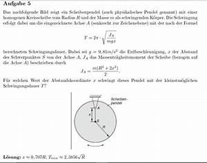 Pendellänge Berechnen : schwingung kleinstm gliche schwingungsdauer berechnen ~ Themetempest.com Abrechnung