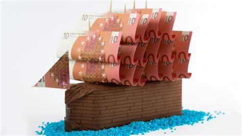 geldgeschenk idee hochzeit ein schiff aus geld basteln