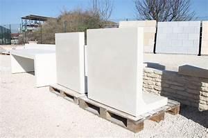 Mur En Béton : mur de sout nement pr fabriqu en b ton arm lisse mur 39 en l 39 talon simple auto stable ~ Melissatoandfro.com Idées de Décoration