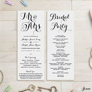 wedding order of service template With wedding ceremony order of service template