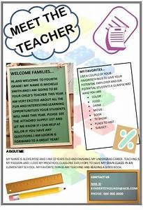 Meet The Teacher Template - Beautiful Designs