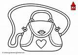 Purse Coloring Handbag Pages Drawing Getcolorings Printable Getdrawings sketch template