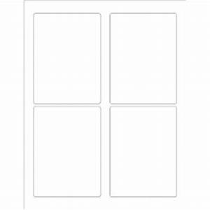templates rectangular labels 3 1 2quot x 4 3 4quot 4 per With 3 1 3 x 4 label template