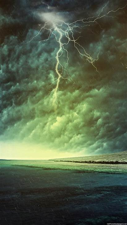 Storm Clouds Sea Wallpapers 1080p Iphone Thunderstorm