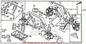 Honda Vf750f Interceptor 1983  D  Usa Carburetor  Assy