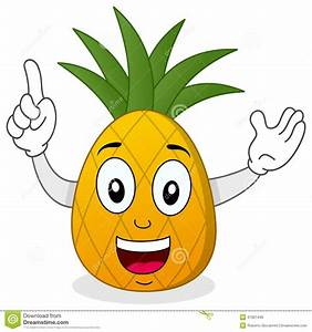 Happy Smiling Pineapple Character Stock Vector - Image ...